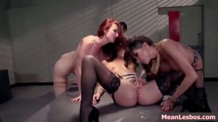 Hot and Mean Fiery Lesbians Hot Cop Mean Cop with Jessa Rhodes Kayla Carrera Kendra James