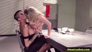 Hot And Mean Sexy Lesbians Hot Cop Mean Cop with Jessa Rhodes Kayla Carrera Kendra James