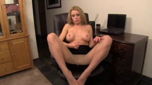 Randy Moore JOI humiliation Nice blonde in pantyhose heels nylon solo