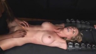 Stunning Blonde Cherie Deville Racked and tickled