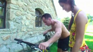 Horny Young Bike Slut Treated To Big Cock Embed Player