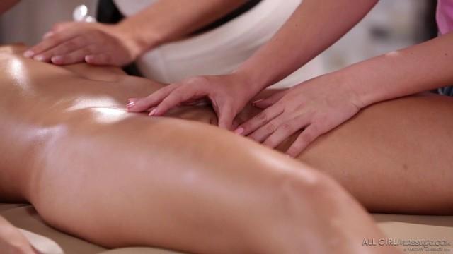 Scarlett Sage Adria Rae Lana Rhoades Amazing Girls BFF Share a Massage