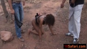 African teen gets tortured outdoors by two guys