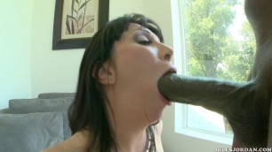 RayVeness huge breasts Interracial Black cock in her pussy