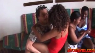 African sex slaves reveal sexy bodies and fuck in interracial orgies
