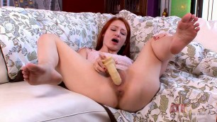 Violet Monroe fucks himself with a big dildo Toys Solo