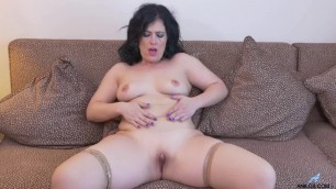 Montse Swinger demonstrates his natural body Alone Time