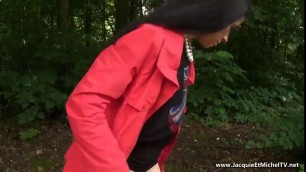 Insatiable wild whore Cadey gets toyed in a public park