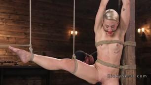 Extreme bondage and vibrator for Nice blonde