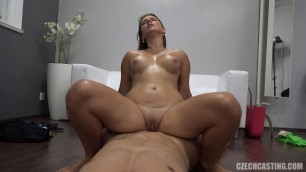 Lucie 3277 girl sucks cock and fucks at casting