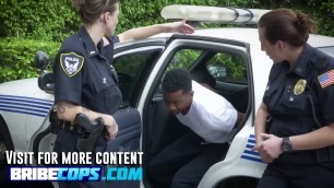 Round ass police sluts are getting juiced by a black convict real hard