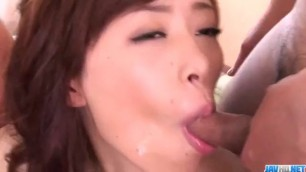 Amateur milf, Keito Miyazawa, fucked in threesome