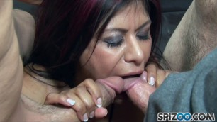 Gabby Quinteros takes a lot of dicks at once Gangbang