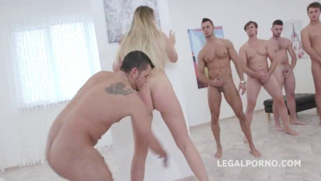 15on1 GangBang with Selvaggia Balls Deep Anal DAP TP Gapes Final DP 17 Cumshots with messy Facial and Swallow