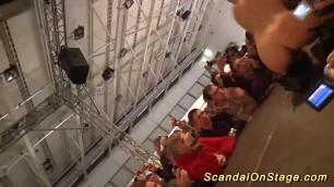 wild lapdance on puclic show stage