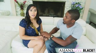 Asian Babe Mia Li Is Eager To Fuck Black Guy With Massive Dick