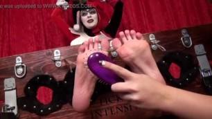 Lovey dovey Girl Harley Quinns Ticklish Interrogation
