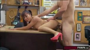 ute Asian babe Tiffany Rain fucks a horny pawnman for money