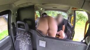 Fake taxi driver bangs his Busty female collague