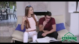 Step Sister Seduces Nerdy Brother