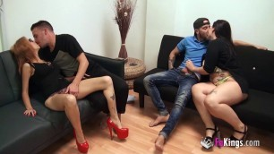 Maria Bose And Noa Orgy couples change partners and fuck