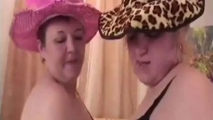 Old Experienced lesbians playing with big dildo