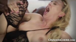 CrushGirls - Cherie Deville sucks and fucks a big black cock