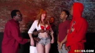 Interracial Orgy With Busty Redhead Bartender Lauren Phillips