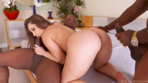 Remy LaCroix hot sex black men Interracial DP