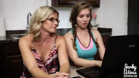 Cory Chase and Lena Paul Nice Daughter Saves The Family