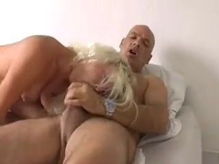 Delightful Blonde Wife fucks two Men until they cum