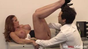 Sexual Latina Sabrina Cyns has an office affair