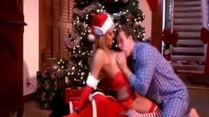 Hot Blonde chick fucked in anal Christmas Sex