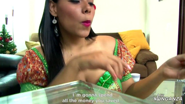 Andrea Flores Colombian ex Andrea Flores revenge fucks the neighbor on Christmas Eve