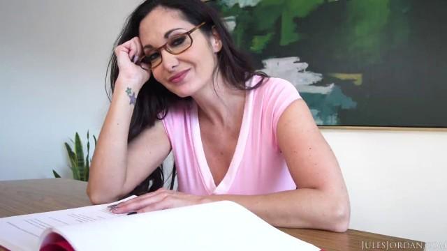 JulesJordan Ava Addams Manuel Ferrara Ho Ho Ho Santa Brought Me Big Titties For Christmas Sex
