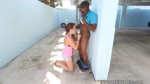 Nena Colada in Hot Spanish Girl Nina Colada gives 10 Car Wash and 200 BJ