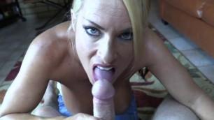GOLDIE BLAIR TITTY FUCKER Blonde skillfully sucks cock