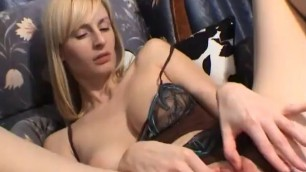 Woman Masturbates With Vibrator In A Room