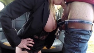 Blonde Whore Holly Kiss Needs Taxi Drivers Cock