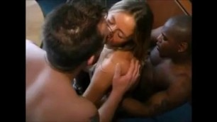 Blonde Gets Banged By Huge Ebony Cocks