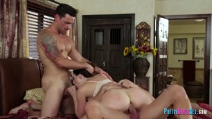 Married Couple in a Wild Threeway Fuck