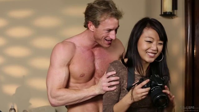 Young Slim Girl From Japan Takes A Huge White Dick In Her Asian Pussy