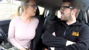 Cute Babe Sasha Steele Sucks Driving Examiners Cock