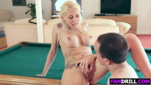 Blonde Sweety Marsha May Nails With Stepdad