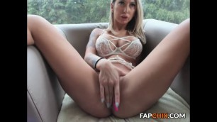 Beauty Big Boobs Blonde Bitch Masturbating On Webcam