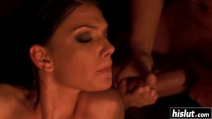 Two guys get to fuck a hot friend
