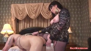 HolyBitches - Mistress Fucks Her Slave's Butt