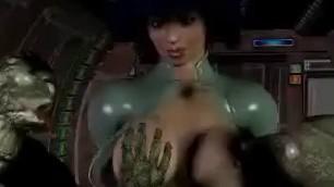 3d Monster Hot Girl Brutally Raped From Space Alien Monsters