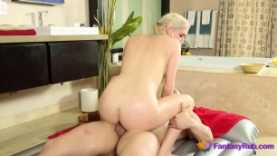 Blonde Cutie Fucked After a Massage