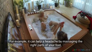 Horny Lesbians Finger Each Other In The Hot Tub Eufrat Mai And Tracy Lindsay In The Jacuzzi